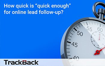 "How quick is ""quick enough"" to respond to online sales leads"