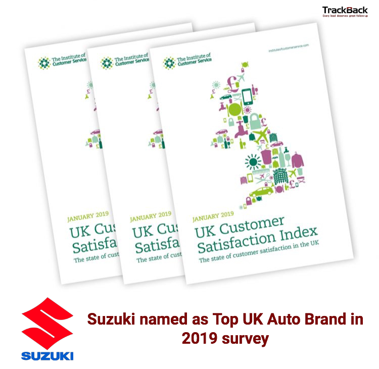 TrackBack customer Suzuki voted top automotive brand in 2019 customer satisfaction index
